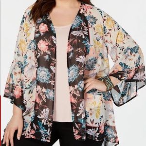 Style & Co hip length kimono style cover glorious